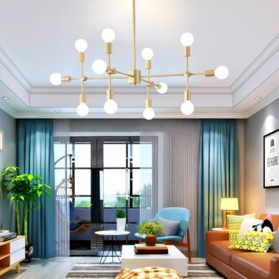 Branch Living Room Chandelier Metal 9/12/15 Lights Industrial Ceiling