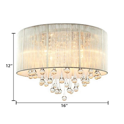 Clear Crystal Round Pendant Lighting with 53