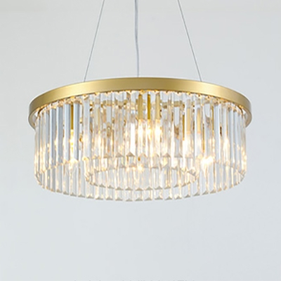 Gold Drum Chandelier with 19.5