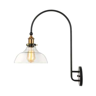 1 Light LED Wall Sconce with Clear Glass Shade