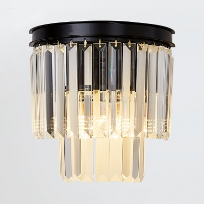 1 2 Light Tiers Sconce Lighting Modern Style Clear Crystal Wall Mount