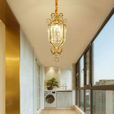 Height Adjustable 1 Light Chandelier Light with 19.5