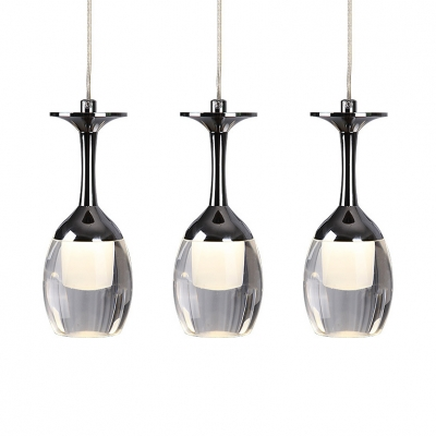 Crystal Pendant Lights for Kitchen Island with 19.5