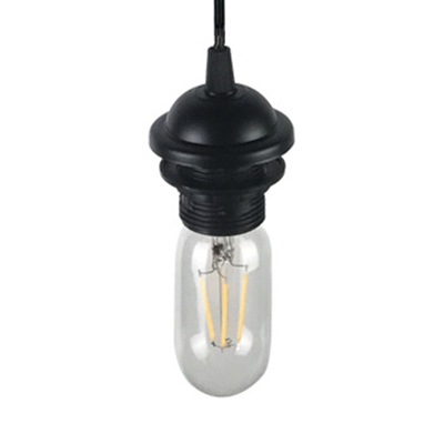 Industrial Open Bulb Hanging Lamp Single Light Glass Ceiling Lamp with 39