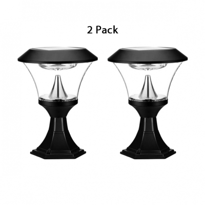 Pack of 1/2 LED Post Lamp Sun Powered Water-Resistant Post Lighting for Balcony Deck
