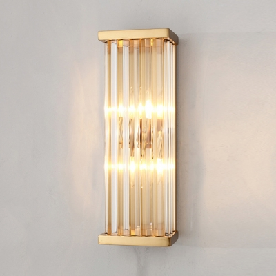 Rectangle Cylinder Bathroom Wall Sconce