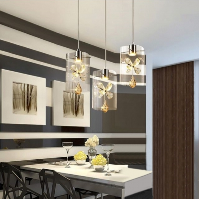 Crystal Pendant Light for Kitchen with 8.5\