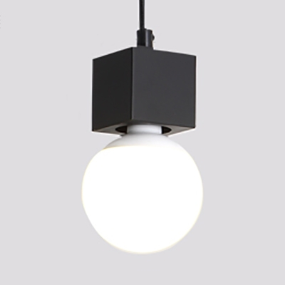 Open Bulb Living Room Ceiling Hanging Glass Single Light Modern LED Hanging Lamp with 39