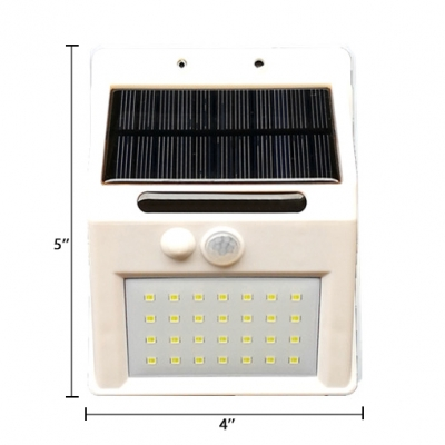 Solar Motion Detector Security Light 28 LED Stainless Steel Wall Light for Pathway