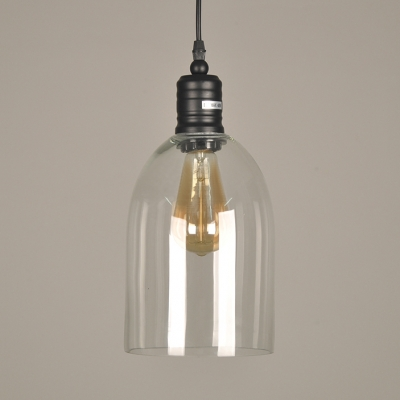 Bell Kitchen Hanging Lamp Glass Single Light Antique Pendant Lighting with 47