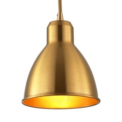 Domed Mini Hanging Light Kitchen 1 Light Metal Vintage Ceiling Pendant Light in Brass