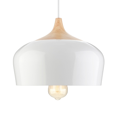 Large Pendant Light In Designer Style Aluminum Bowl