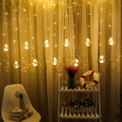 Ball LED String Lights Living Room Pack of 2 8ft Decorative Fairy Lights in Multi Color/Warm HL512202 фото
