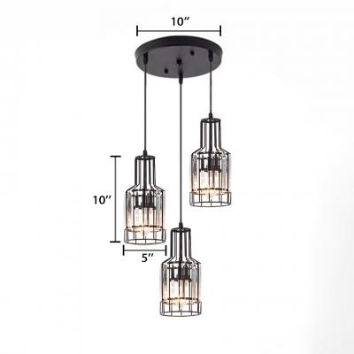 Dining Room Lighting Modern 3 Lights Height Adjule Clear Crystal