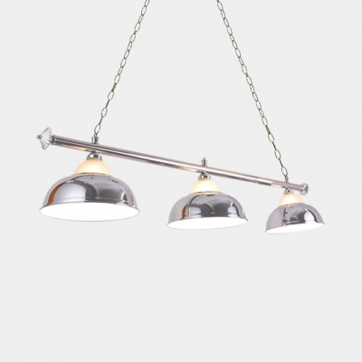 Industrial Double Bubble Island Lamp Height Adjustable Metal Pendant Lights with 59