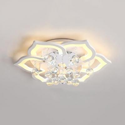 Bedroom Petal Flush Mount Lights Acrylic Contemporary White Flush Ceiling Lighting
