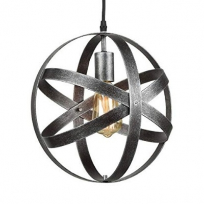 Silver Strap Glove Pendant Lighting Height Adjustable Metal Rustic Suspension Pendant for Living Room