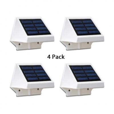 4 LED Solar Powered Lights Driveway Waterproof Dusk To Dawn Sensor Deck Lights in White/Warm