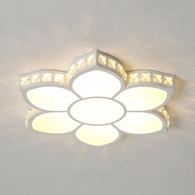 Bloom Flush Ceiling Light with Crystal Modern Acrylic LED Flush Mount Light in Warm/White