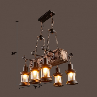 Black Lantern Island Pendant Lights with 39