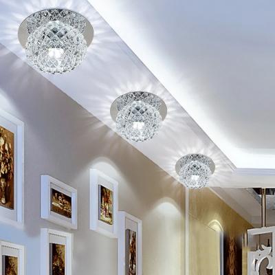 Globe Flush Mount Light Living Room Contemporary Flush Ceiling Lighting in Chrome