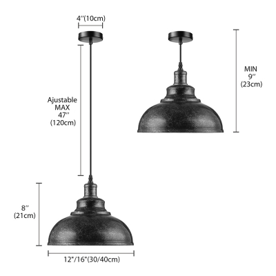 LOFT Rust Iron Dome LED Pendant Light