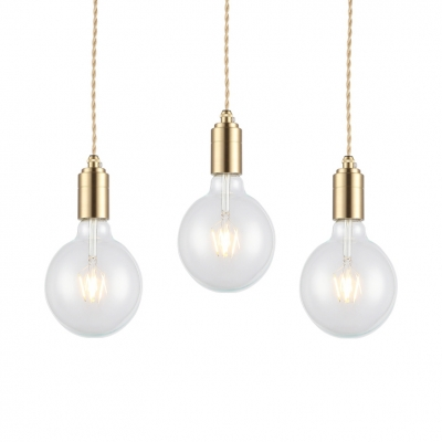 wholesale dealer 0e7c4 325c9 Modern Bulb Pendant Light Single Light Clear Glass Ceiling Hanging