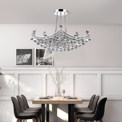 Silver Chandelier with 16
