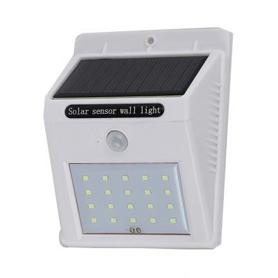 Solar Motion Sensor Deck Lights Step 12 LED Dusk to Dawn Sensor Wall Lights in White