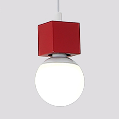 Open Bulb Pendant Lighting Dining Room Single Light Contemporary LED Light Fixtures with 39