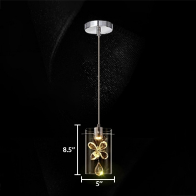 Crystal Pendant Light for Kitchen with 8.5