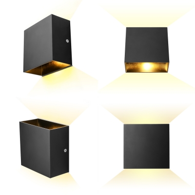Modern Cube Wallwasher 2'' White/Black