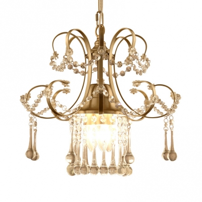 Clear Crystal Light Fixtures with 19.5