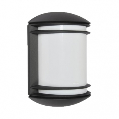 Bulb/LED Wall Sconce Easy to Install Waterproof Security Lights in Black/Silver/White for Yard Step