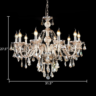 Candle Bedroom Chandelier with 12