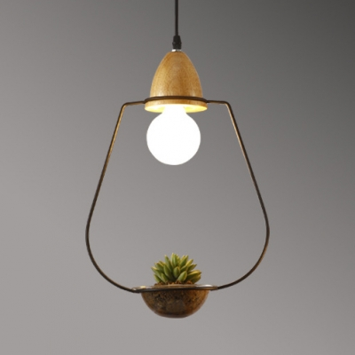 Hallway Cage LED Pendant Ceiling Light Metal Rustic Black/White Lighting Fixture with 39