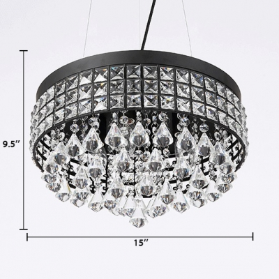Modern Drum Light Fixture with 23.5