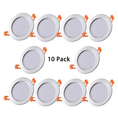 (10 Pack)12/15/18W Metal Recessed Light 4-5/6/7 Inch Circle LED Flush Mount Recessed in Warm/White for Dining Room