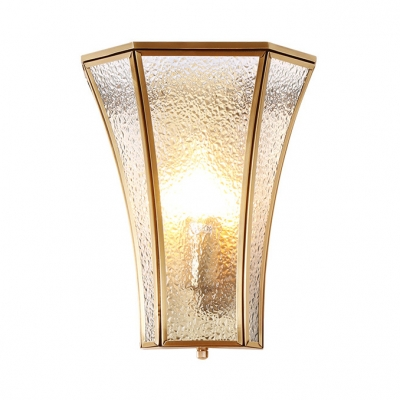 Wall Sconce With Shade Hammered Gl