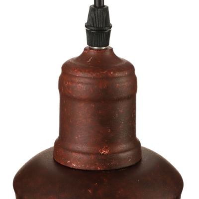 Retro Antique Copper LED Pendant Light with Dome Shape