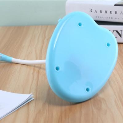 USB Charging Port Desk Lamp Pack of 2 Foldable Rotatable White/Blue LED Reading Light for Office Bedroom