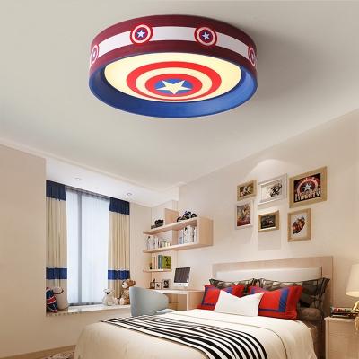 Warm Lighting/Stepless Dimming Flush Mount Light Movie Element LED Ceiling Light for Boys Bedroom