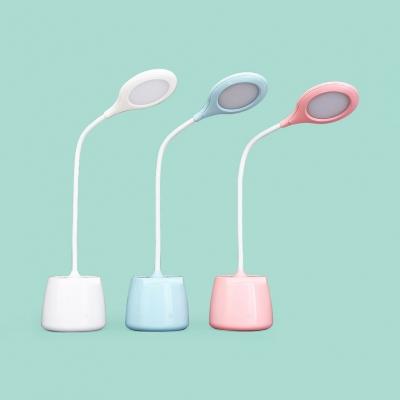 White/Pink/Blue USB Charging Desk Light Dimmable 3 Lighting Modes LED Reading Light for Bedroom