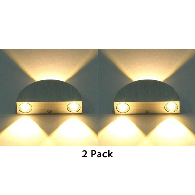 2 Packwireless Half Round Wall Light Bedroom Restaurant Simple Style