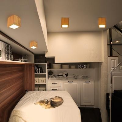 (4 Pack)3 Size Optional LED Ceiling Light Bedroom Living Room