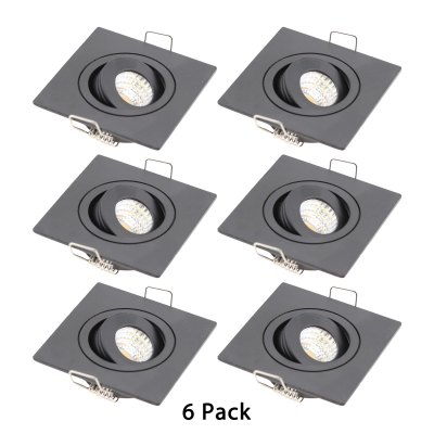 3W Square LED Recessed Down Light Hallway Wireless Metal Recessed Light in Warm White