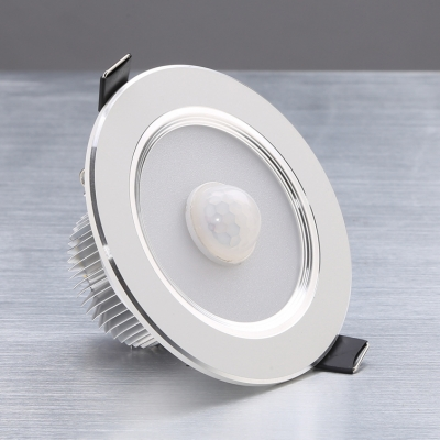 (4 Pack)7W Motion Sensor Light Fixture Bedroom 3.5-4 Inch Recessed Slim Panel Wireless Recessed Light in White/Warm