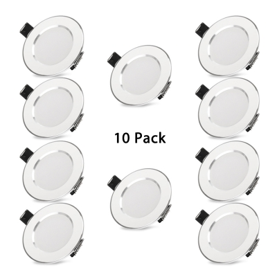 (10 Pack)Aluminum Round Recessed Light 5/9/15W Recessed Down Light for Living Room in Warm/White