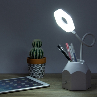 Dimmable Eye Caring LED Desk Light with USB Charging Port Pack of 2 Energy Saving Reading Light with Flexible Gooseneck
