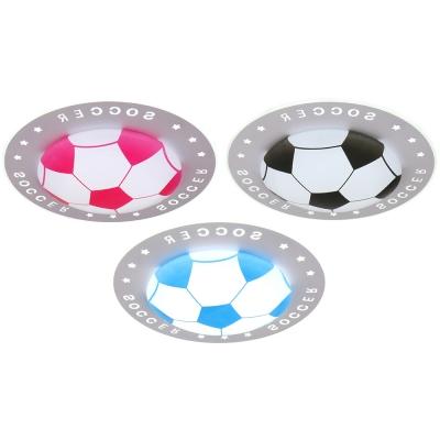 Soccer Pattern Ceiling Light 3 Colors Acrylic LED Flush Mount Light for Boy Girl Bedroom